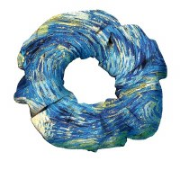 Van Gogh's Starry Night Scrunchie