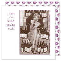 "5"" Square Love The Wine Your With Beverage Napkin"