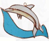 "5"" Dolphin Glass Sun Catcher"