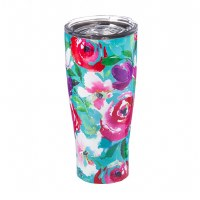17 oz Stainless Steel Multicolored Flower Tumbler