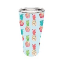 17 oz Stainless Steel Multicolored Pineapple Tumbler