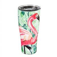 17 oz Stainless Steel Flamingo Tumbler