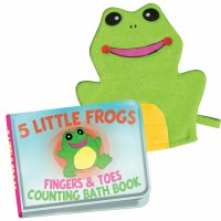 Frog Counting Bath Book With Washing Mitt