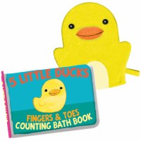 Duck Counting Bath Book With Washing Mitt