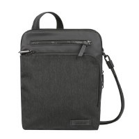 "10"" x 11"" Black Anti-Theft Metro Small Cross Body Bag"