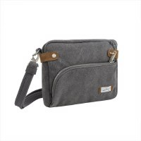 "10"" x 8"" Pewter Anti-Theft Heritage Cross Body Bag"