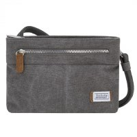"10"" x 7"" Pewter Anti-Theft Heritage Small Crossbody Bag"
