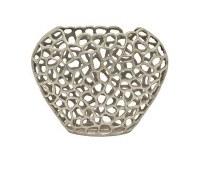 """13"""" Silver Openwork Metal Vase"""
