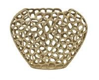 """13"""" Gold Openwork Metal Vase"""