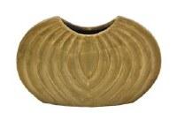 "7"" Gold Rib Ceramic Vase"