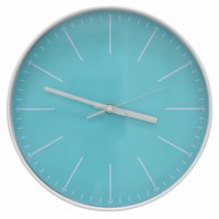 "12"" Round Light Blue Wall Clock"