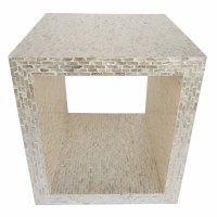 Natural Mother Of Pearl Square Open Center Table