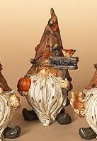 "6"" Fall Welcome Polystone Gnome"
