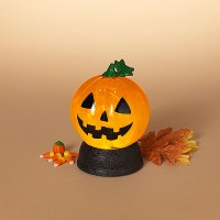 "7"" LED Orange Swirl Pumpkin"