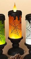 """13"""" LED Orange Swirl Candle Lantern"""