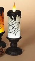"""13"""" LED White Swirl Candle Lantern"""