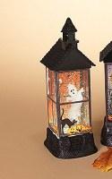 """12"""" LED Ghost Glitter House Lantern"""