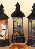 "12"" LED Glitter House Lantern"