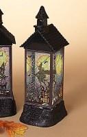 "12"" LED Witch Glitter House Lantern"