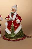 "18"" Red and Green Mrs. Claus With Cookies"