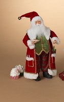 "18"" Red and Green Santa With Cookies"