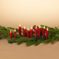 Set of 10 Red LED Candles