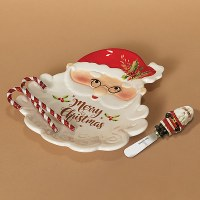 Santa Plate With Spreader
