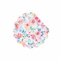 "17"" Round Nicole Floral Quilted Reversible Placemat"