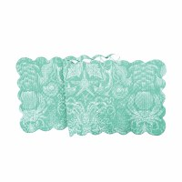 "51"" Turquoise Bay Quilted Runner"
