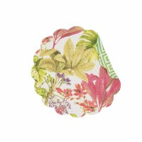 "17"" Round Moana Floral Quilted Reversible Placemat"