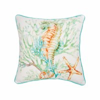 "18"" Multipastel Seahorse Pillow"