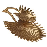 """15"""" Gold Metal Palmetto Chip and Salsa Tray"""
