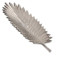 """16"""" Silver Metal Frond Tray"""