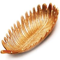 "9"" Gold Metal Frond Bowl"