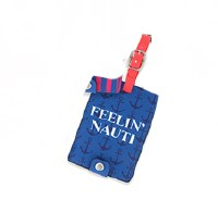 "5.5"" Feelin' Nauti Luggage Tag"