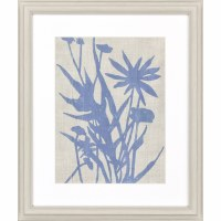"29"" x 24"" 1 Big Blue Flower Framed Print"