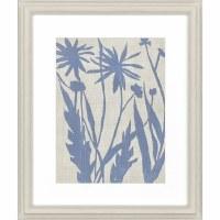"29"" x 24"" 2 Big Blue Flowers Framed Print"