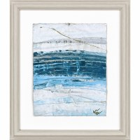 """27"""" x 23"""" Tide Waters With Blue Botom Framed Print"""