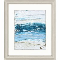 """27"""" x 23"""" Tide Waters With White Bottom Framed Print"""