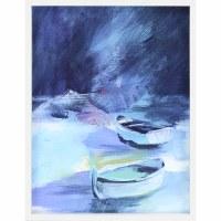"""42"""" x 32"""" Dark Blue Dinghy's Framed Print"""