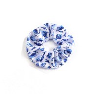 Blue Sealife Print Scrunchie