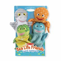 Set of 4 Sealife Hand Puppets