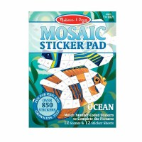 "12"" x 9"" Ocean Mosaic Sticker Pad"