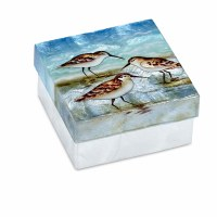 "4"" Square Shorebird Capiz Box"