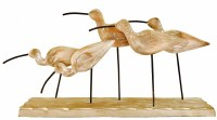 """7"""" 5 Wooden Sandpipers With Base"""