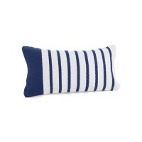 "12"" x 22"" Navy Stripe Pillow"