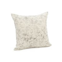 "20"" Square Beige and Gray Textured Pillow"