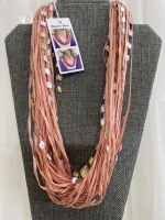 """12"""" Just Peachy Jewel Necklace"""