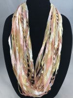 "12"" Just Peachy Ribbon Necklace"