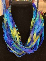"12"" Peacock Ribbon Necklace"